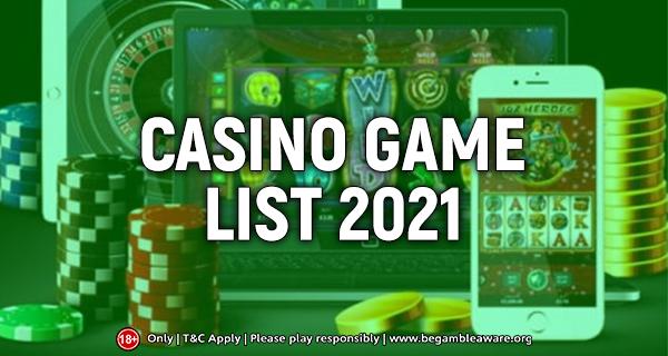 Casino Game List
